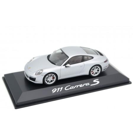 Herpa Porsche 911 Carrera S Coupé 3.0 911.2 2015 - Platinum Silver Metallic