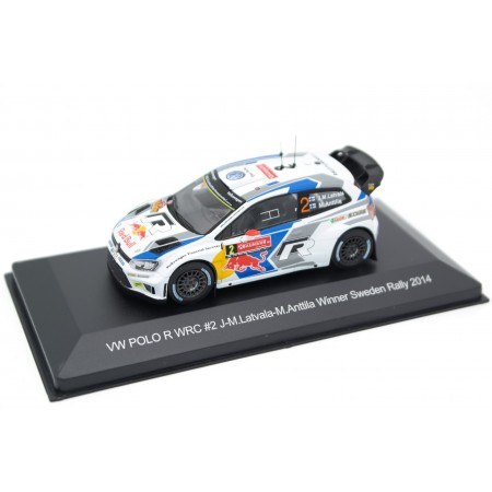 "Whitebox Volkswagen Polo R WRC #2 ""Volkswagen Motorsport"" Winner 62 Rally Sweden 2014 - J-M.Latvala/M.Anttila"