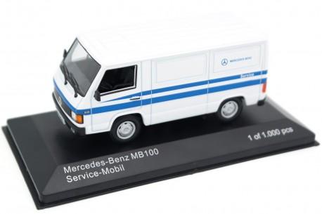 "Whitebox Mercedes-Benz MB 100 ""Mercedes-Benz Service"" 1988 - Arctic White with Blue Decor"