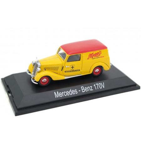 """Schuco Mercedes-Benz 170V Kastenwagen """"Maggi"""" W136 1952 - Yellow/Red"""