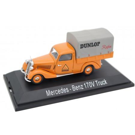 """Schuco Mercedes-Benz 170V Truck """"Dunlop"""" W136 1949 - Orange"""