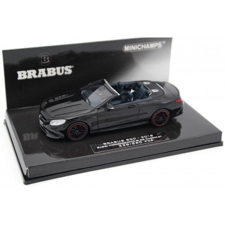 Minichamps Brabus 850 based on Mercedes-Benz S 63 AMG Cabriolet A217 2016 - Obsidian Black Metallic