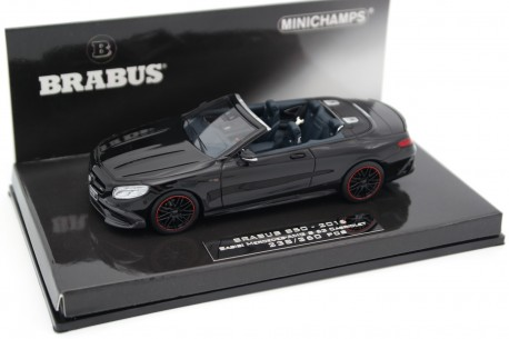 Minichamps Brabus 850 based on Mercedes-Benz S 63 AMG Cabriolet A217 2016 - Obsidian Black Metallic