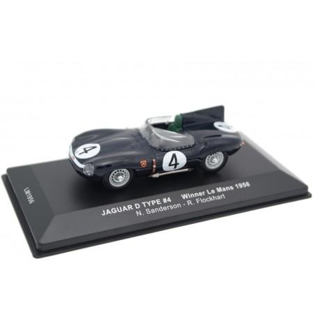 """IXO Jaguar D-Type #4 """"Ecurie Ecosse"""" Winner Le Mans 1956 - N.Sanderson/R.Flockhart"""