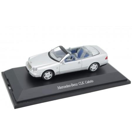 Schuco Mercedes-Benz CLK-Class Cabriolet 230 Kompressor Elegance A208 1998 - Brilliant Silver Metallic