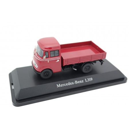 Premium ClassiXXs Mercedes-Benz L319 Pritschenwagen 1955 - Medium Red