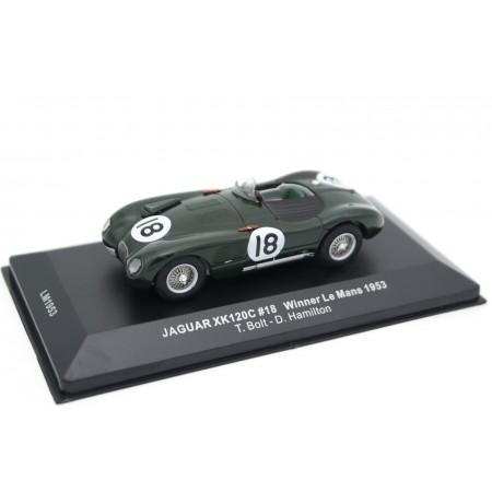 "IXO Jaguar XK120C #18 ""Jaguar Cars Ltd."" Winner Le Mans 1953 - T.Rolt/B.Hamilton"