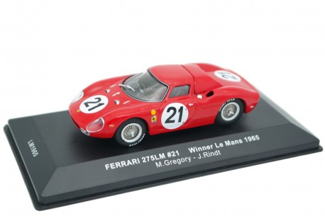"IXO Ferrari 250 LM Le Mans #21 ""North American Racing Team"" Winner 24 Hours of Le Mans 1965 - M.Gregory/J.Rindt"
