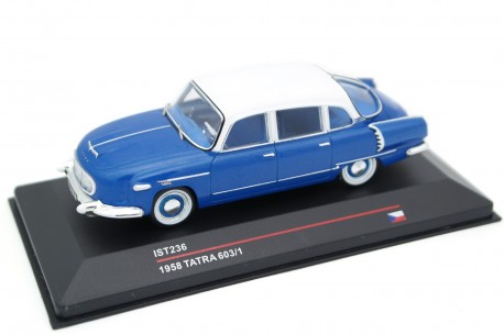 IST Models Tatra 603/1 1958 - Blue Metallic with White Roof