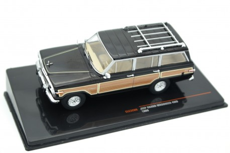 IXO Jeep Grand Wagoneer 4WD SJ 1989 - Classic Black with Wood Panels