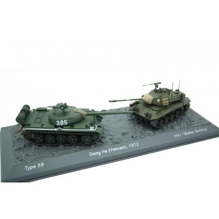 Altaya Type 59 vs M41 Walker Bulldog - Dong Ha, Vietnam 1972 - Green/Green, World of Tanks