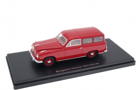 Neo Scale Models Borgward Hansa 1500 2-door Kombi 1951 - Coral Red