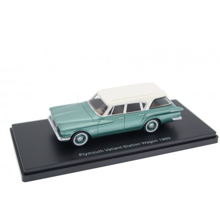 Neo Scale Models Plymouth Valiant Station Wagon 1960 - Luminous Green Metallic