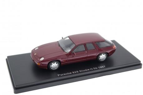 Neo Scale Models Porsche 928 Studie H50 1987 - Ruby Red Metallic
