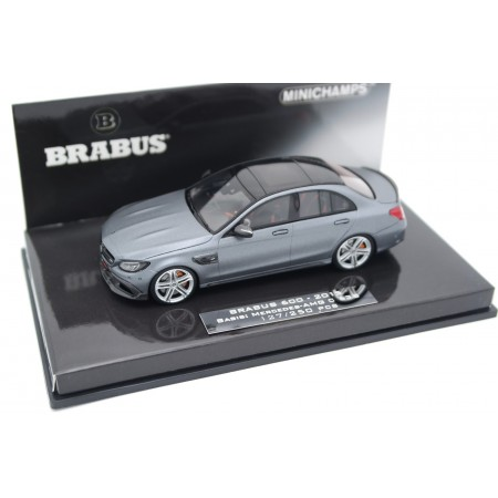 Minichamps Brabus 600 based on Mercedes-Benz C 63 S AMG W205 2015 - Designo Selenite Grey Magno