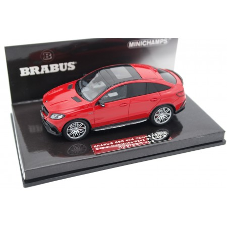 Minichamps Brabus 850 4x4 Coupé based on Mercedes-Benz GLE 63 S AMG C292 2016 - Manufaktur Jupiter Red