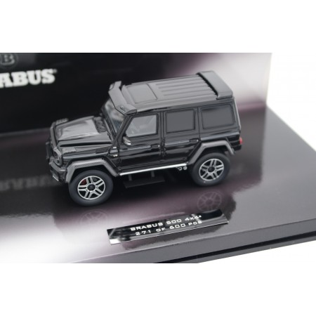 Minichamps Brabus 500 4x4² based on Mercedes-Benz G 500 4x4² W463 2016 - Obsidian Black Metallic with Carbon Black Gloss