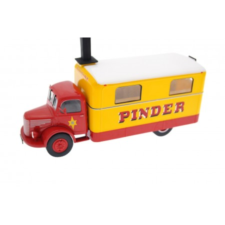 Altaya Unic ZU51 Cuisine #40 Kitchen Truck of Cirque Pinder 1952 - Red/Yellow/White