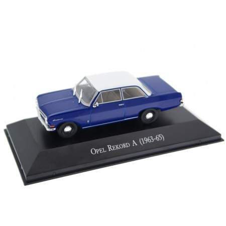 Hachette Opel Rekord A 1700 1963 - Royal Blue with White Roof Z