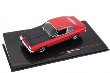 IXO Ford Capri 1700 GT MK I 1970 - Sunset Red with Black Bonnet