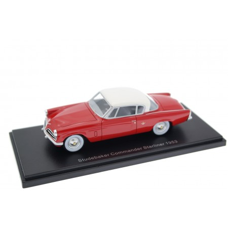 BoS-Models Studebaker Commander Starliner 1953 - Coral Red with Ivory Mist Roof