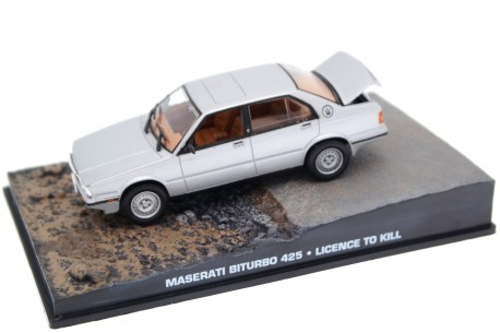 "Altaya Maserati Biturbo 425i ""Licence to Kill (1989)"" 1987 - Silver Metallic"