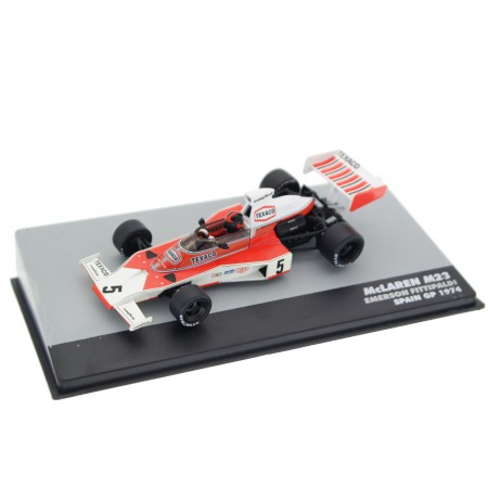 "Altaya McLaren M23 #5 ""Marlboro Team Texaco"" Spanish Grand Prix World Champion Formula 1 1974 - Emerson Fittipaldi"