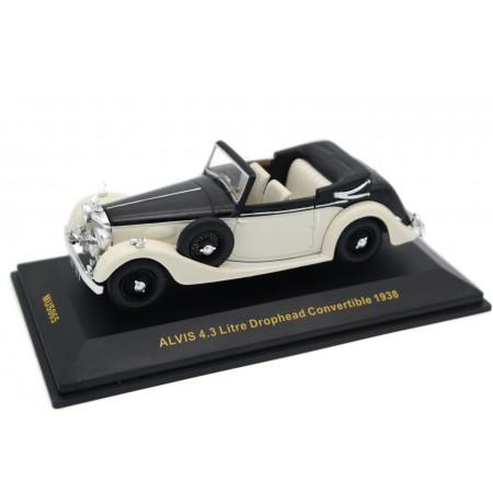 IXO Alvis 4.3 Litre SA Drophead Coupé by Offord & Sons 1938 - Porcelain White/Bone Black