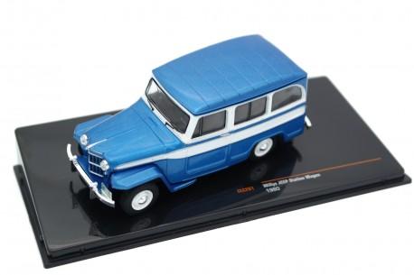 IXO Willys Jeep Station Wagon 1960 - Mallard Blue Metallic