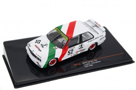 "IXO BMW M3 E30 #52 ""Team Bigazzi"" ETCC Fina RAC Tourist Trophy Silverstone 1988 - J.Laffite/O.Grouillard"