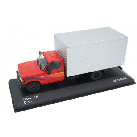 Whitebox Chevrolet D-40 Box Truck 1986 - Red with Decor