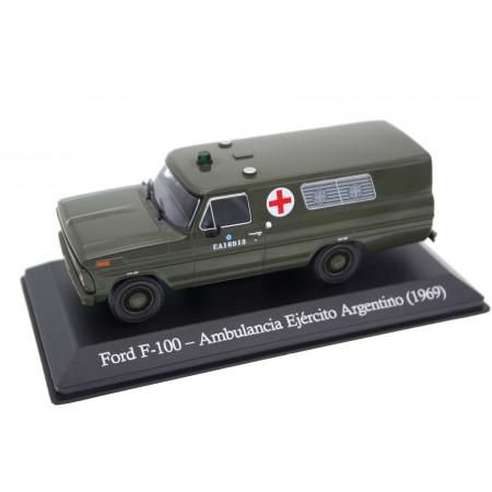 Altaya Ford F-Series V F-100 Ambulancia Ejército Argentino 1969 - Military Green