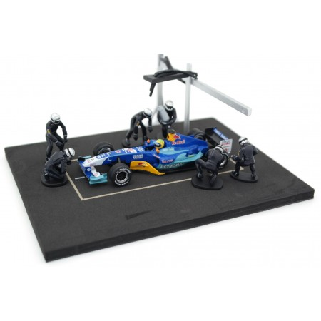 IXO Diorama Set Pit Stop, 6 figures in a set - Blue