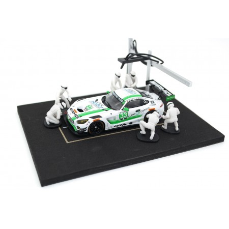 IXO Diorama Set Pit Stop, 6 figures in a set - White