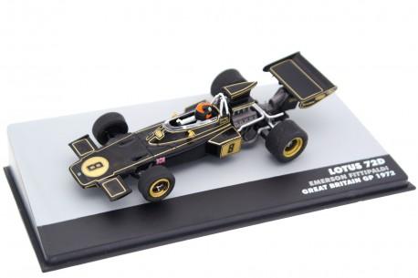 "Altaya Lotus 72D #8 ""John Player Team Lotus"" Winner British Grand Prix World Champion Formula 1 1972 - Emerson Fittipaldi"