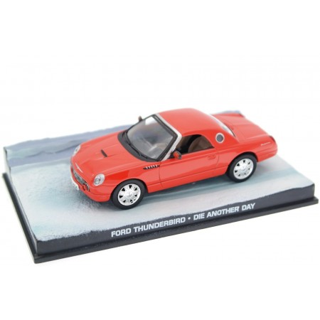 """Altaya Ford Thunderbird Premium Roadster """"Die Another Day (2002)"""" 2002 - Torch Red"""