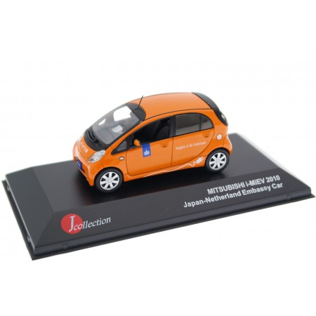 J-Collection Mitsubishi i-MiEV RHD Embassy Car Kingdom of the Netherlands in Japan 2010 - Bright Orange