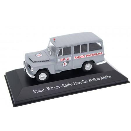 """Altaya Rural Jeep Willys Wagon """"Rádio Patrulha Polícia Militar"""" 1960 - Jetline Grey"""