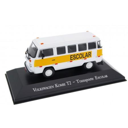 "Altaya Volkswagen Kombi T2 ""Transporte Escolar"" 2001 - Candy White"