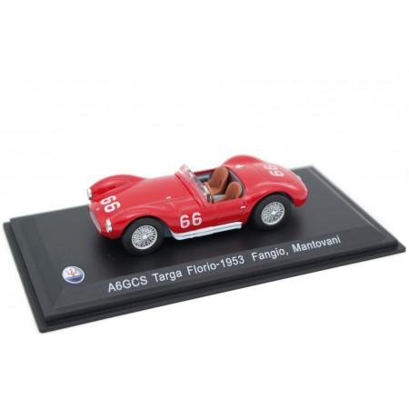 "Whitebox Maserati A6GCS/53 #66 ""Officine Alfieri Maserati"" Targa Florio 1953 - J.M.Fangio/S.Mantovani"
