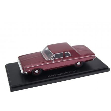 Neo Scale Models Dodge 330 2-door Sedan 1964 - Ruby Red Metallic