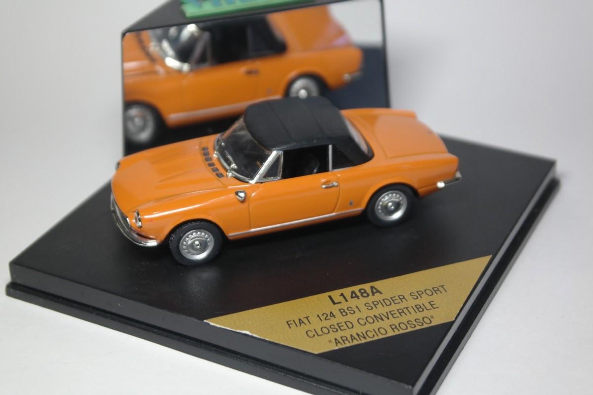Fiat 124 Bs1 Spider Sport Closed Diecast Ukraine 1970 Convertible Vitesse Arancio Rosso